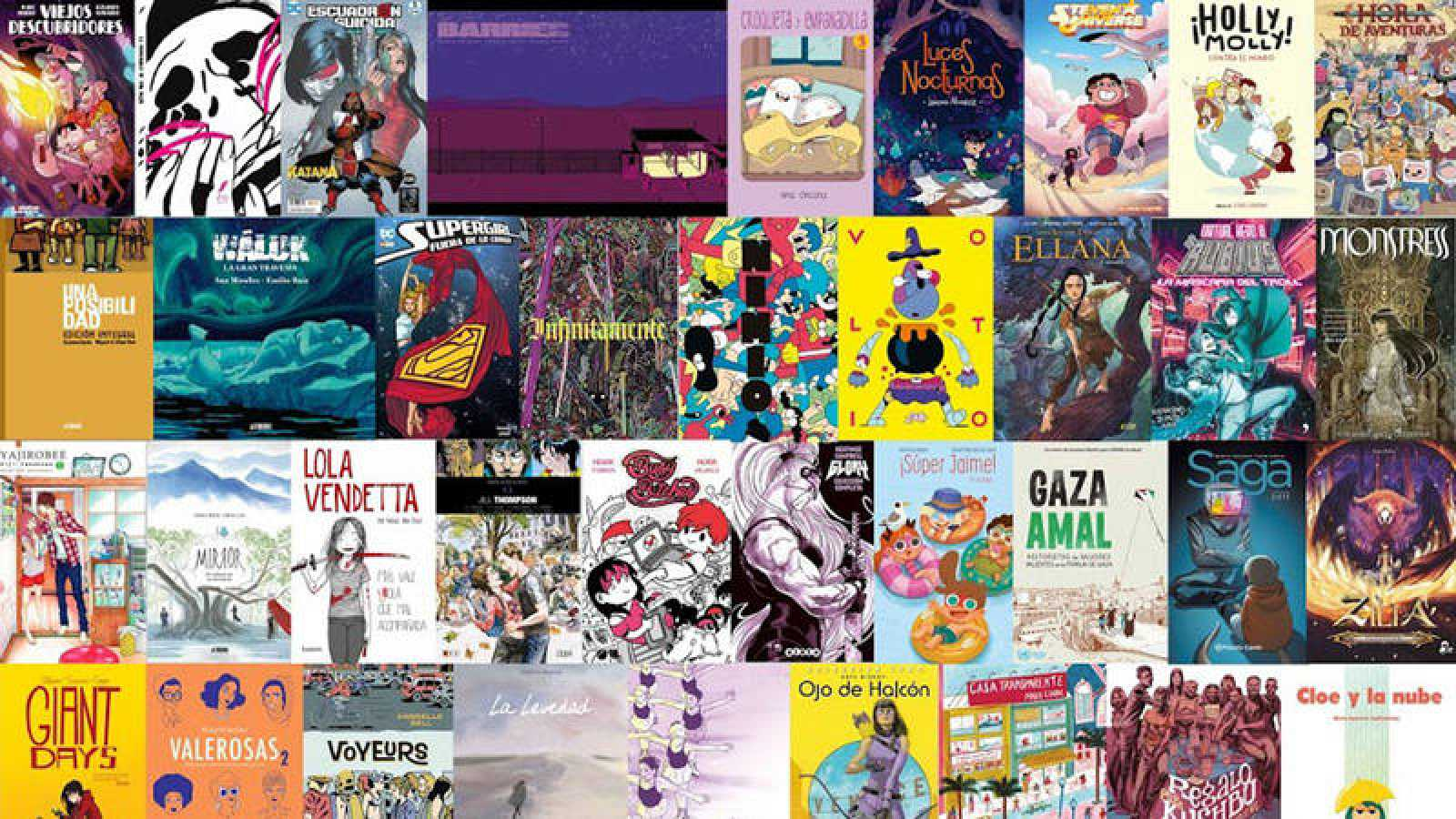 Portadas de cómics firmados por mujeres