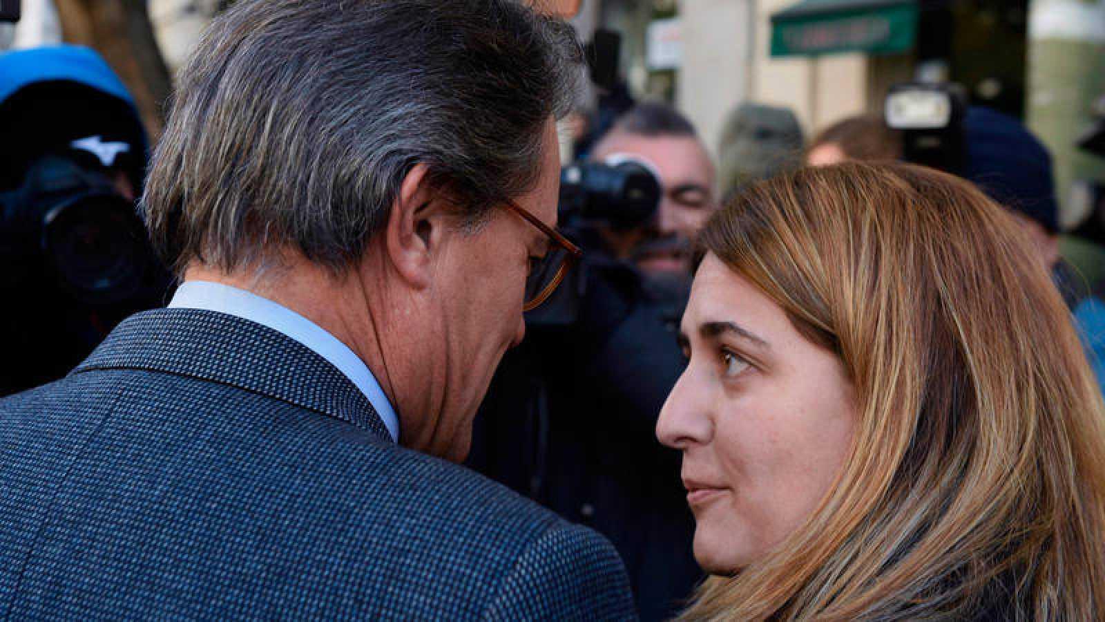 Artur Mas y Marta Pascal, presidente y coordinadora general del PDeCAT