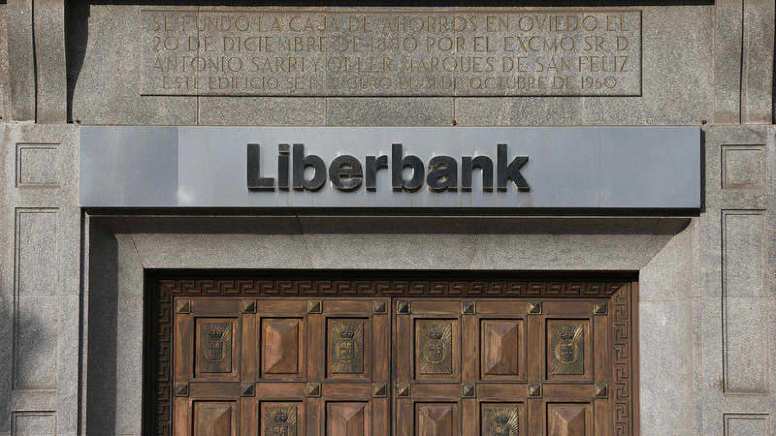 Vista de las oficinas centrales de Liberbank en Oviedo