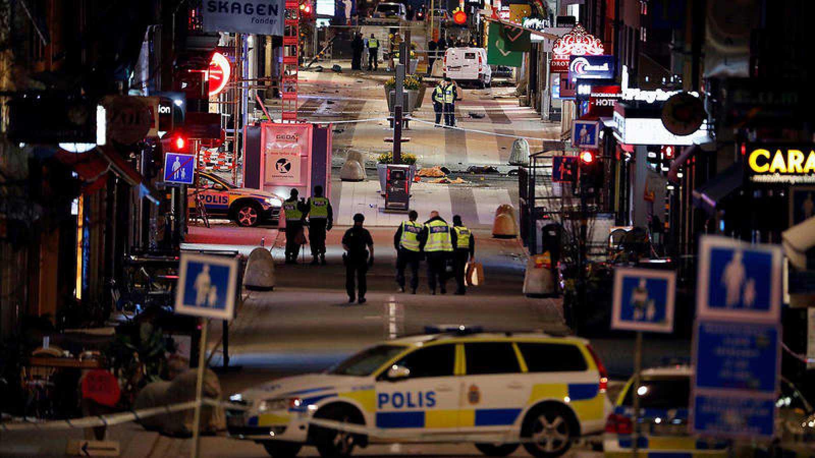 Imagen de archivo del lugar del atentado en Estocolmo, Suecia