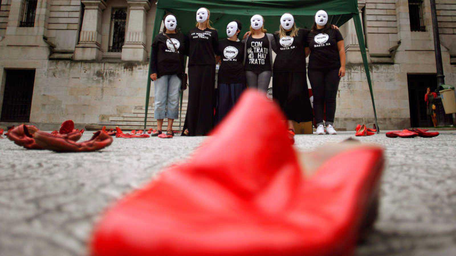 Imagen de archivo de una protesta contra la violencia de género en Galicia