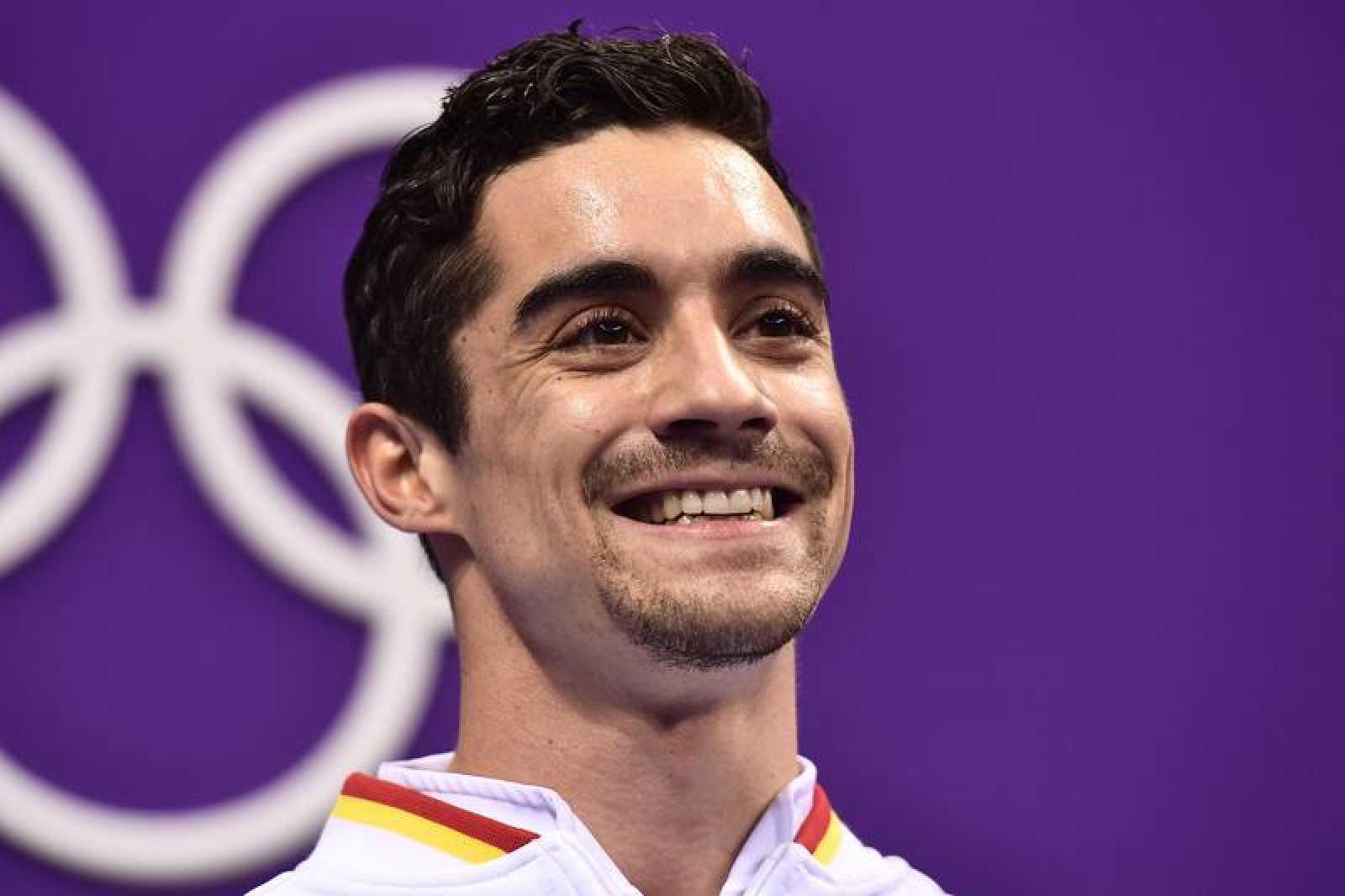 Javier Fernández sonríe tras su participación en el programa corto.