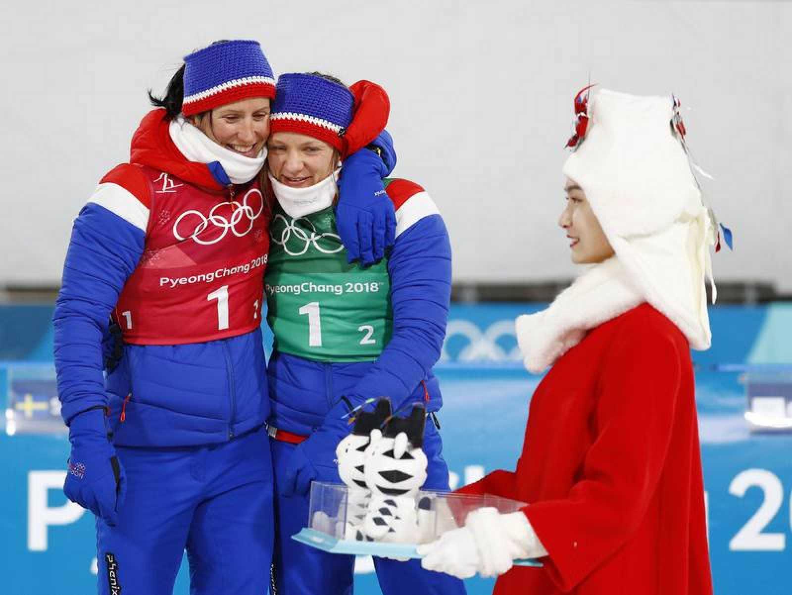 Marit Bjoergen es al atleta de invierno con más medallas en la historia de los Juegos.