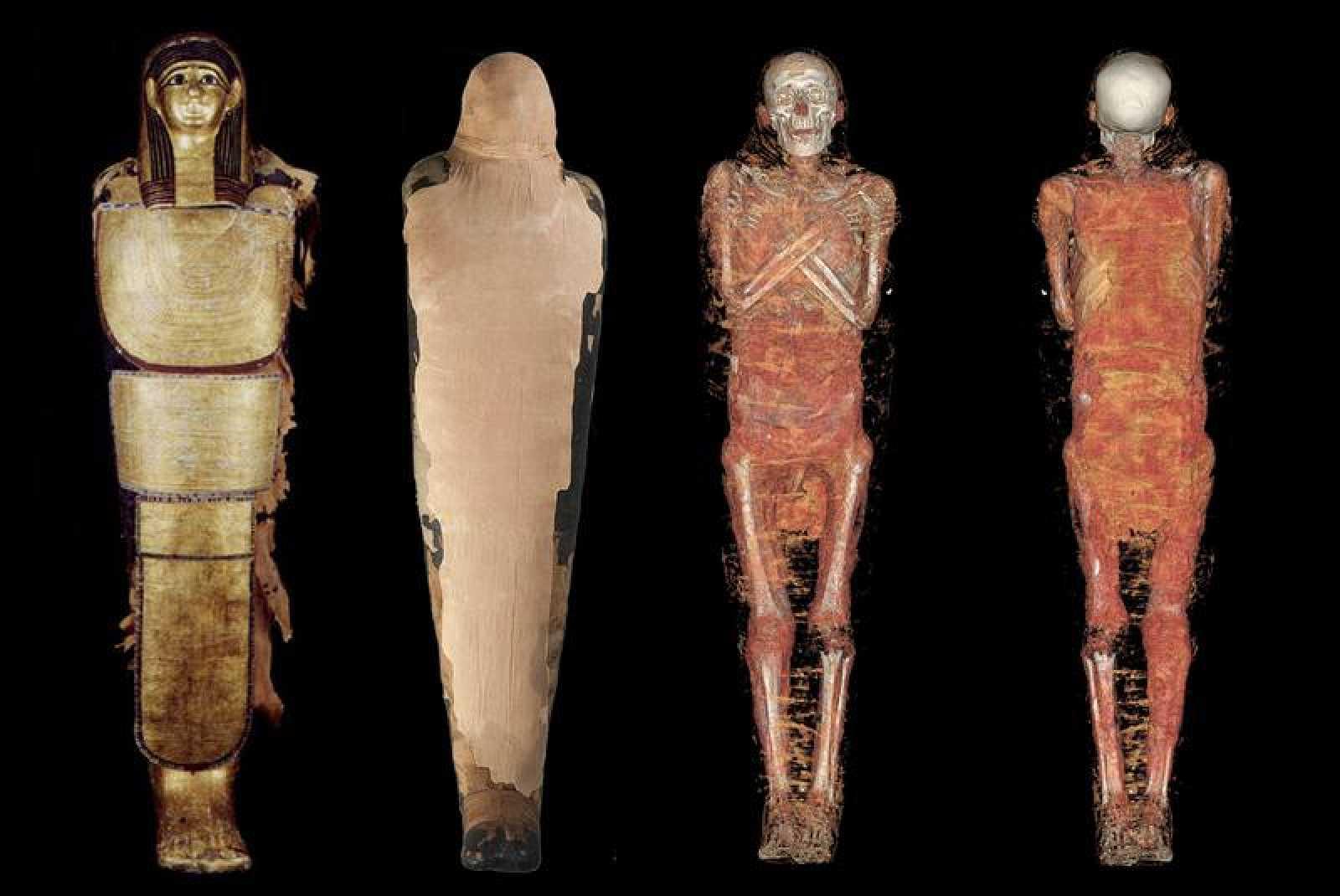 El documental muestra la hisoria más desconcida de las momias  del Antigup Egipto. En imagen, la reconstrucción tridimensional de Nespamedu