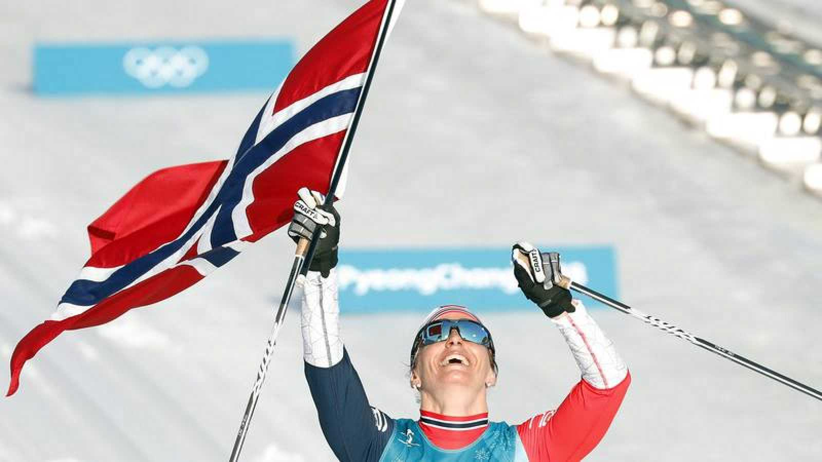 Björgen corona a Noruega y se proclama emperatriz en Pyeongchang