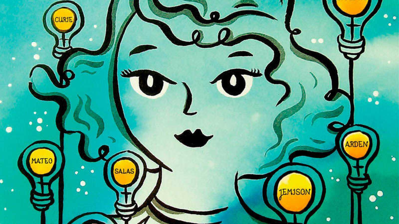 Fragmento de la portada de 'Supermujeres Superinventoras'