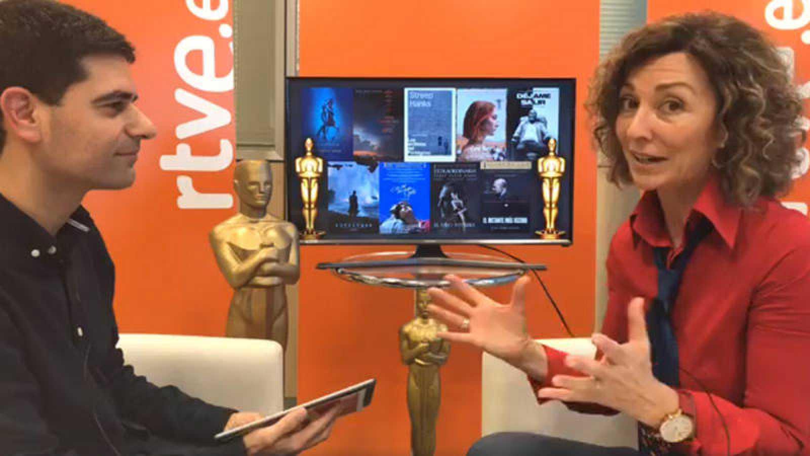 Rubén Vidal, de RTVE.es, y Yolanda Flores, presentadora de 'De película'.