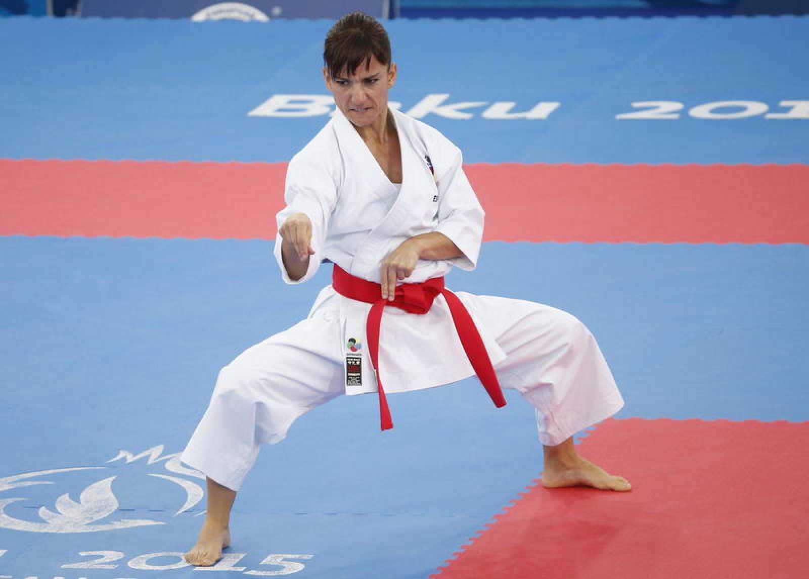 Imagen de archivo de la karateca toledana Sandra Sánchez durante los Juegos Europeos de Bakú 2015.