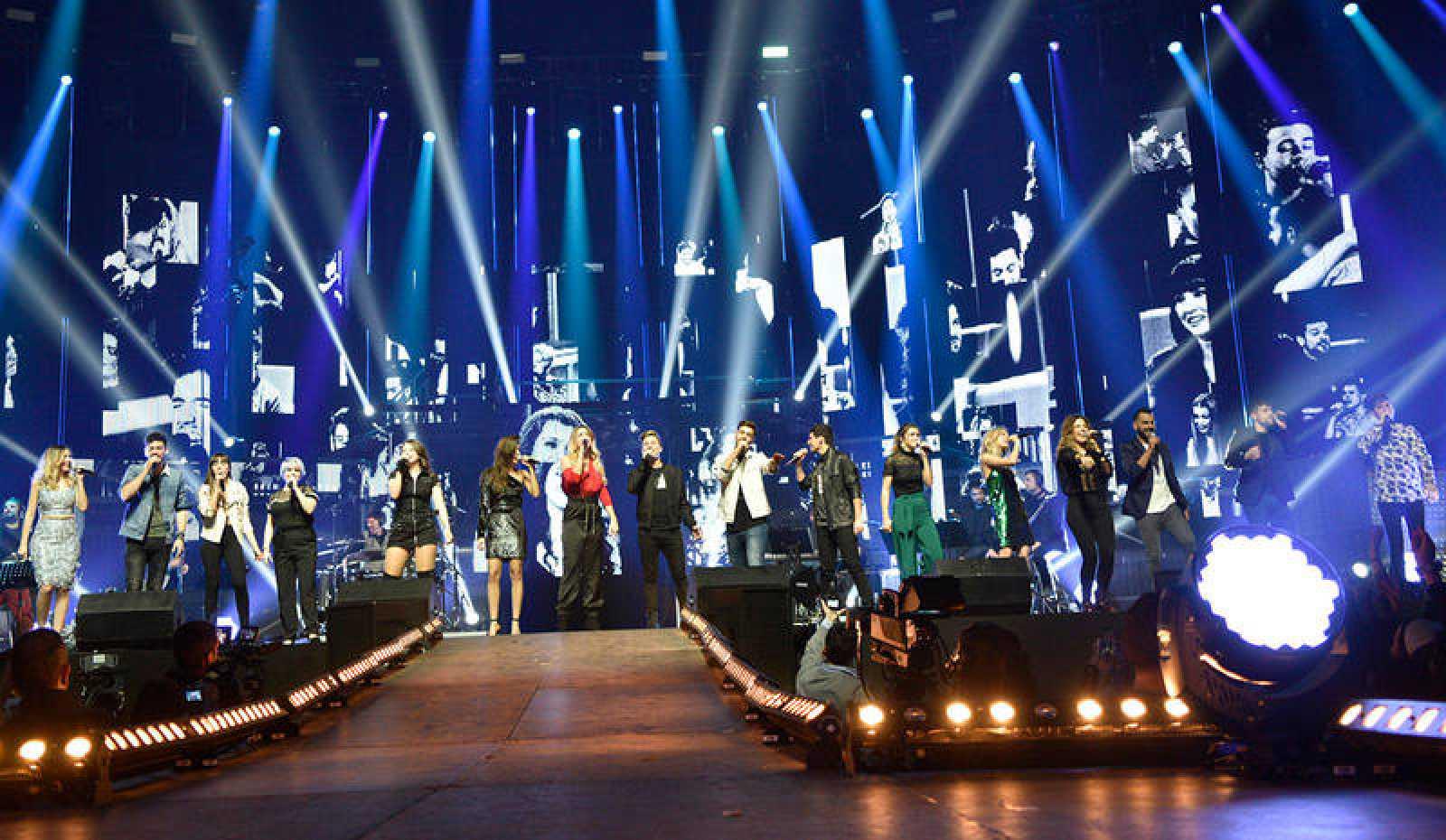 ¡Nos colamos en el ensayo del concierto de OT en Barcelona!