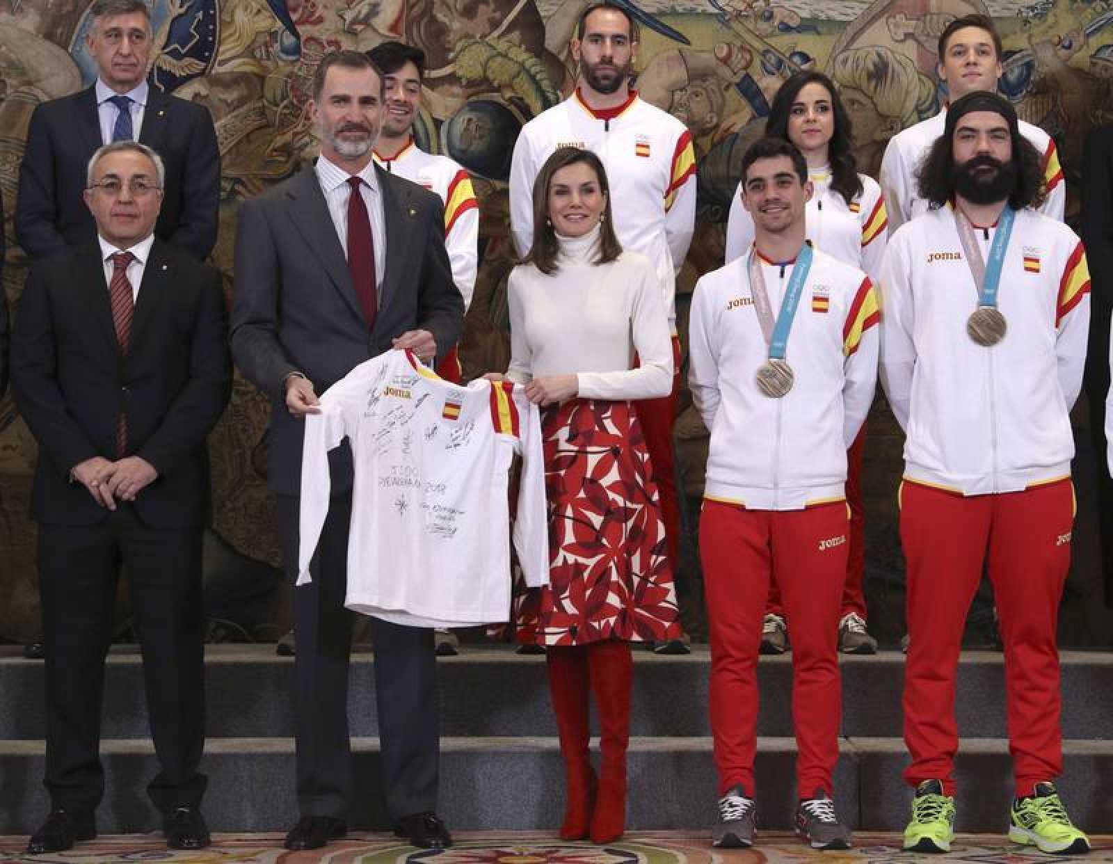 Reyes reciben al equipo olímpico español participante en Pyeongchang