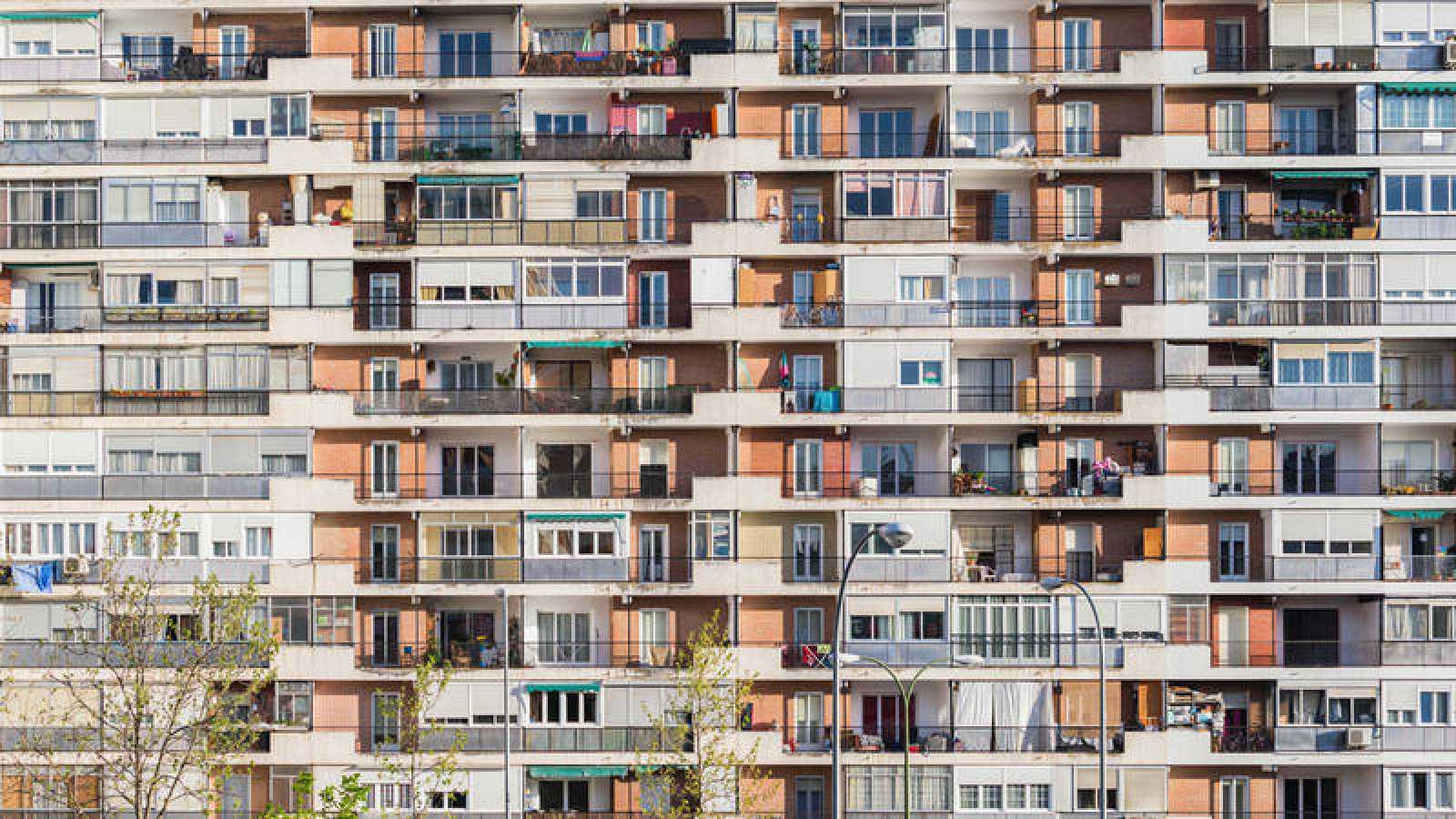 Un bloque de viviendas en Madrid
