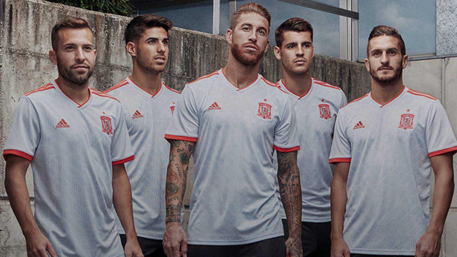 Segunda equipación de España para el Mundial