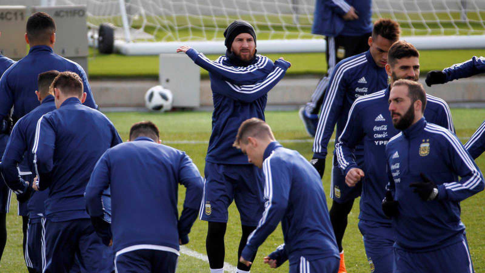 Entrenamiento de Argentina en Madrid.