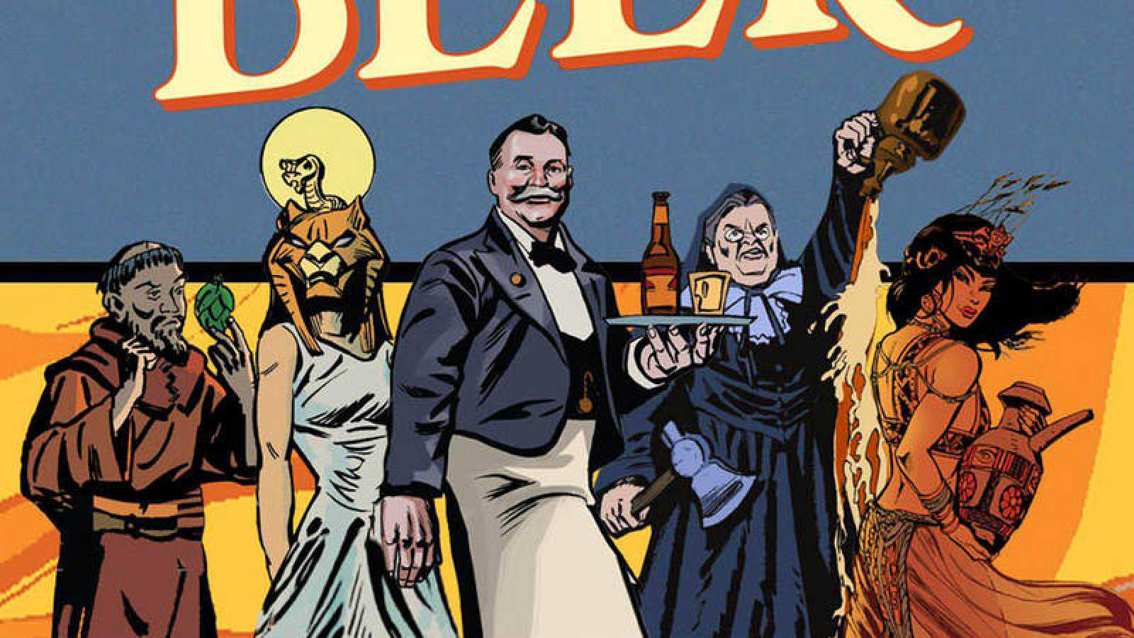 Ilustración de 'La historia en cómic de la cerveza'