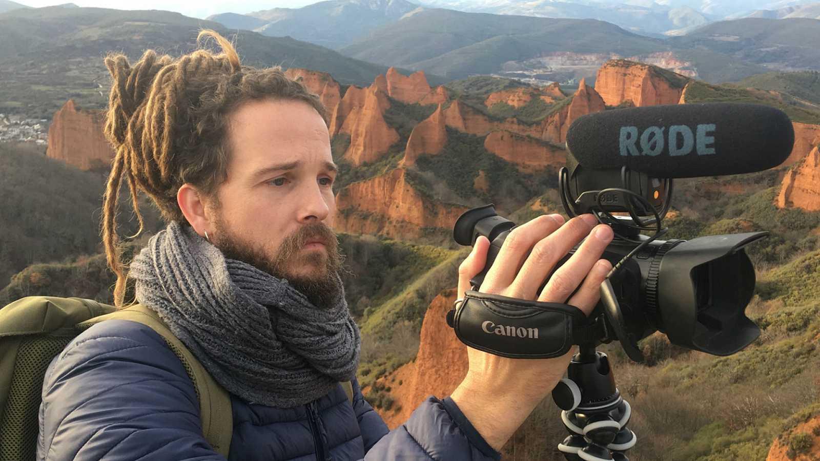 Jorge Sierra en Las Médulas, uno de los viajes de su primer episodio