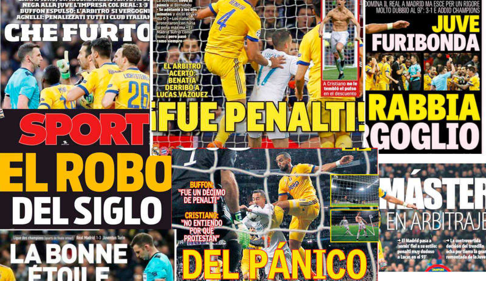 La prensa destaca el 'penalti dudoso' que dio el pase al Madrid