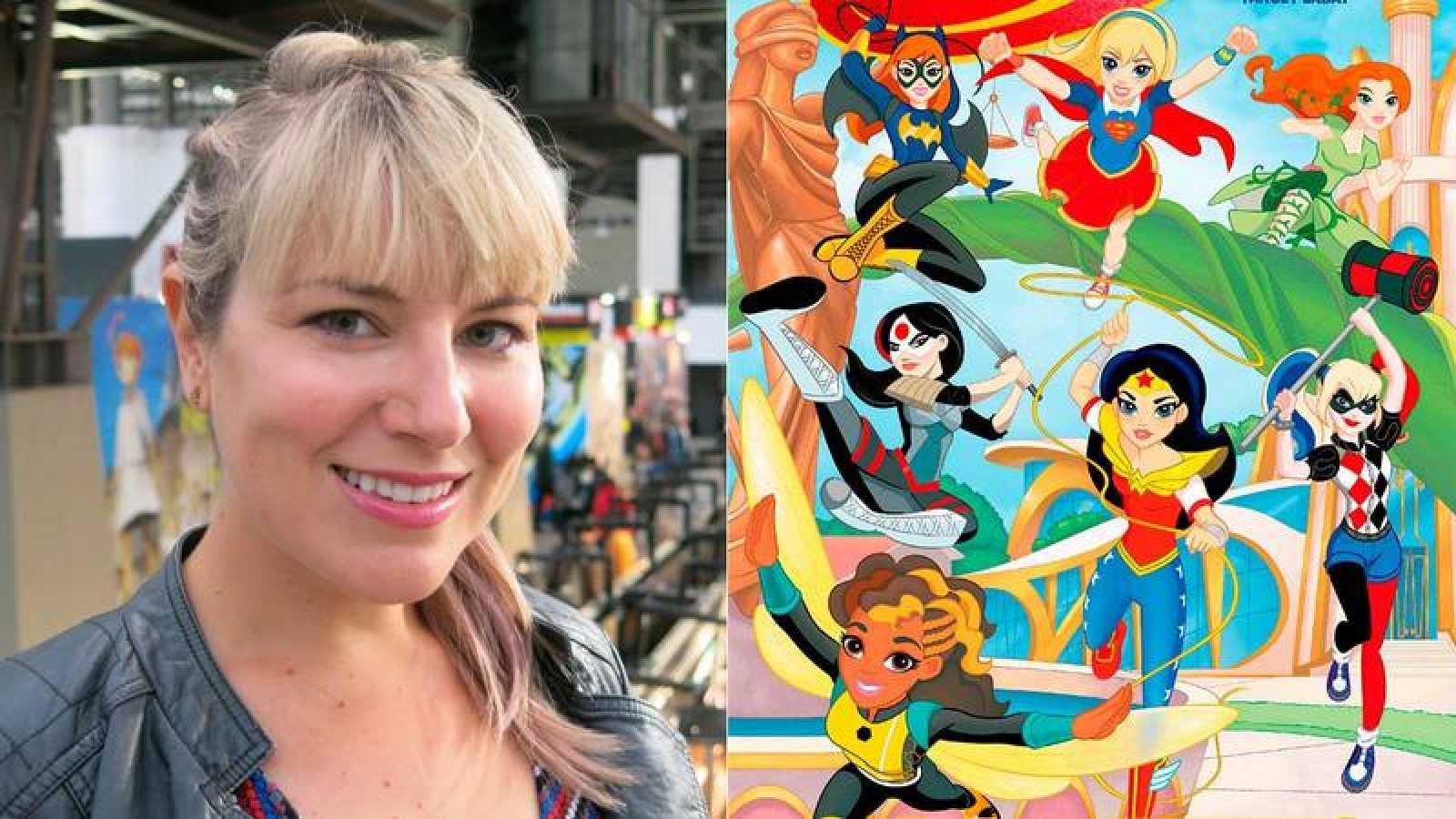 Shea Fontana en el Salón del Cómic de Barcelona y una ilustración de 'DC Super Hero Girls'