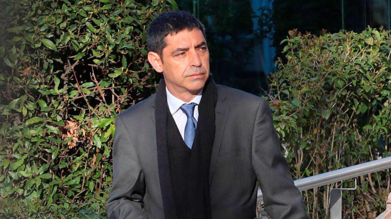 El exjefe de los Mossos d'Esquadra Josep Lluis Trapero a la salida de la Audiencia Nacional