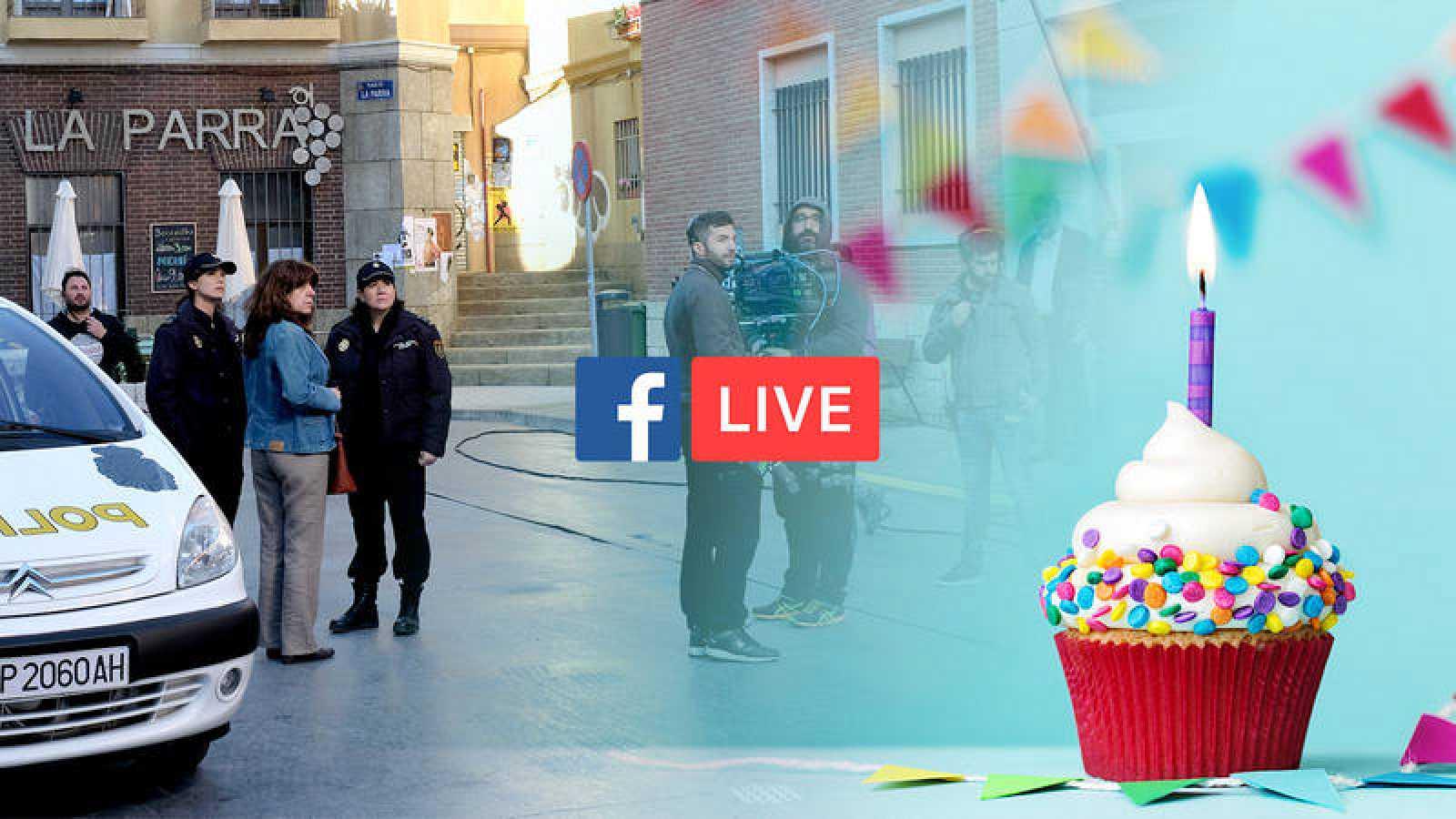 'Servir y proteger' celebra su primer año de emisión con un Facebook Live desde el rodaje