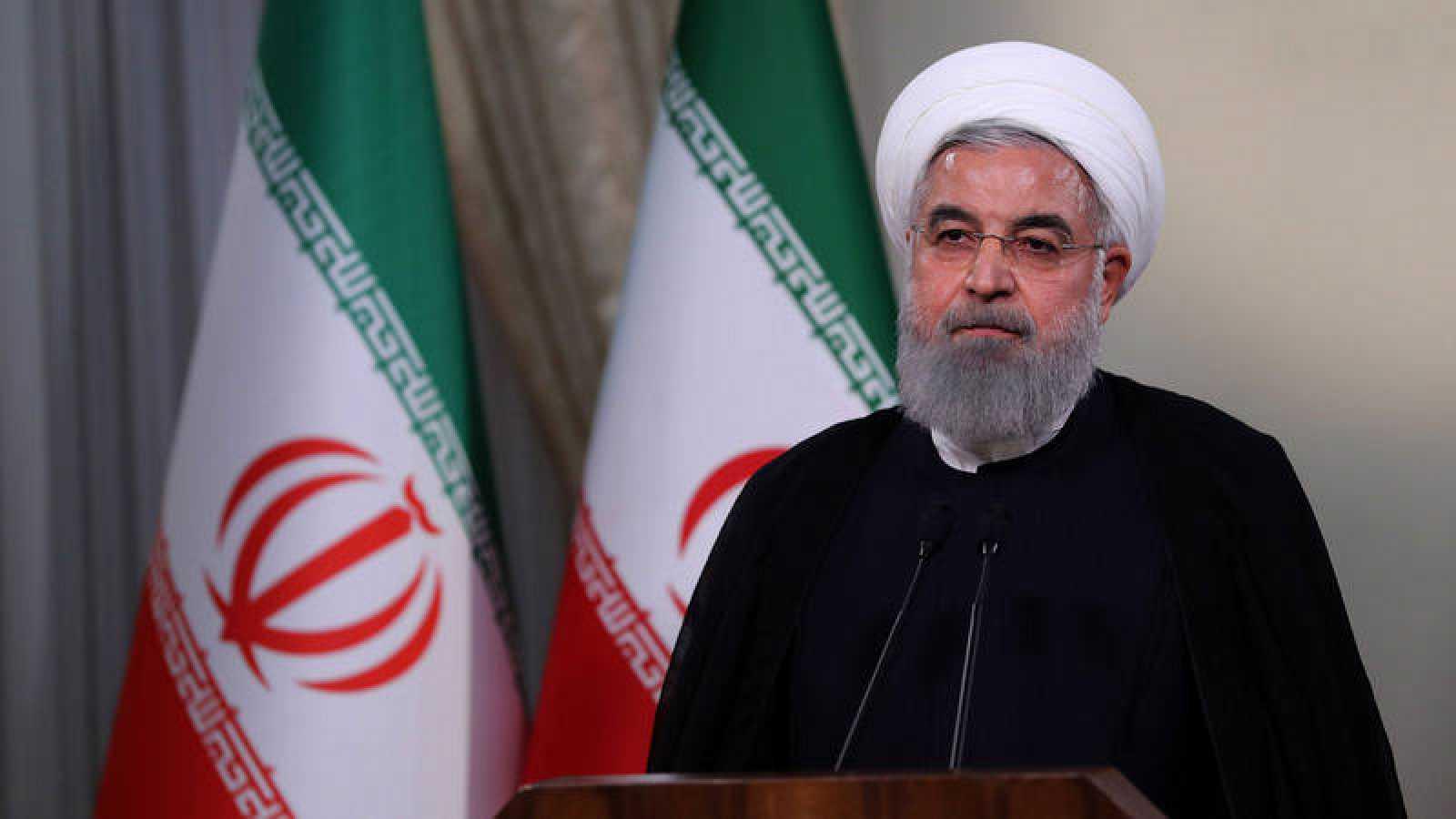 El presidente de Irán, Hasan Rohaní, en su comparecencia en televisión