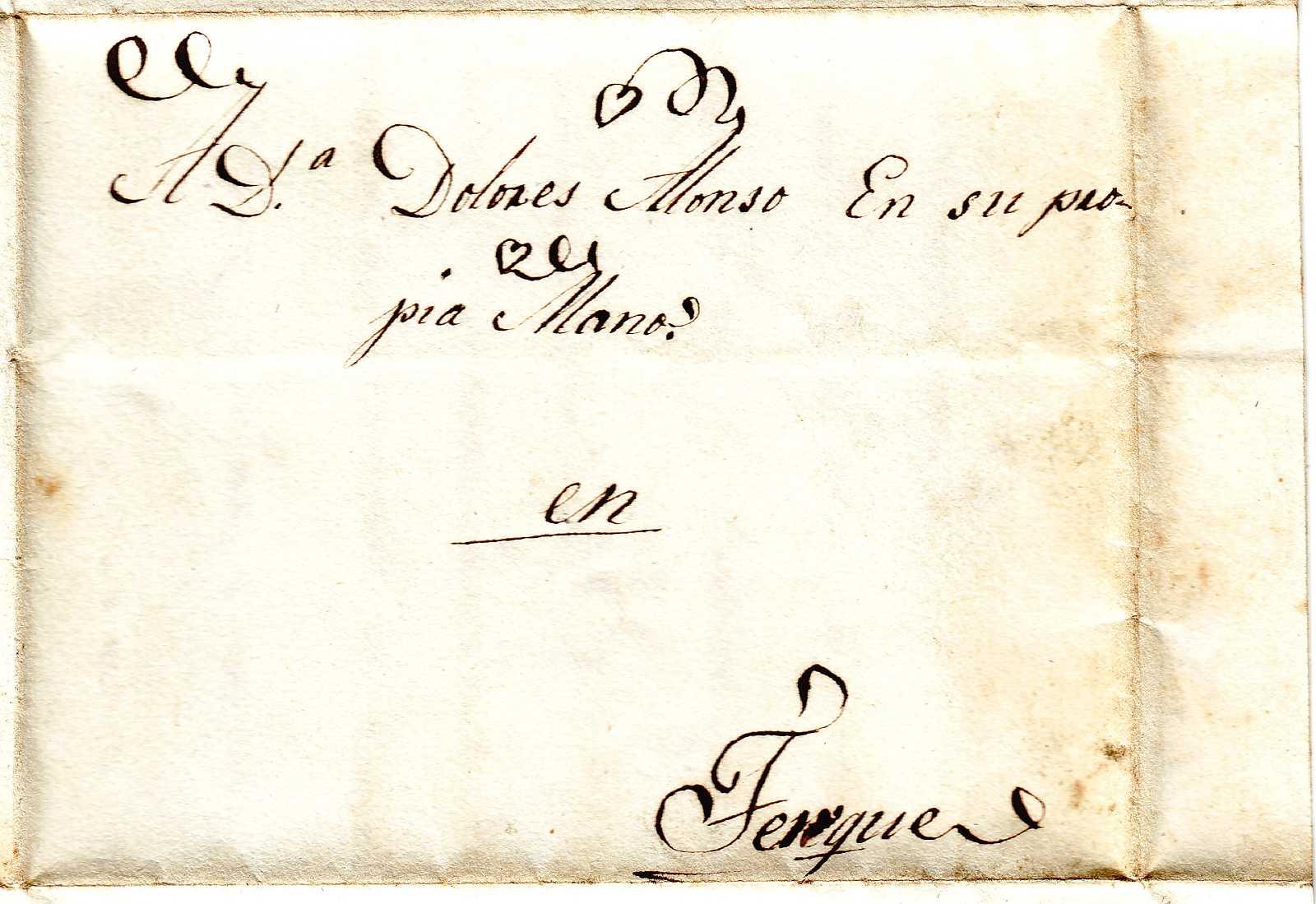 Cartas cruzadas Terque, 1835