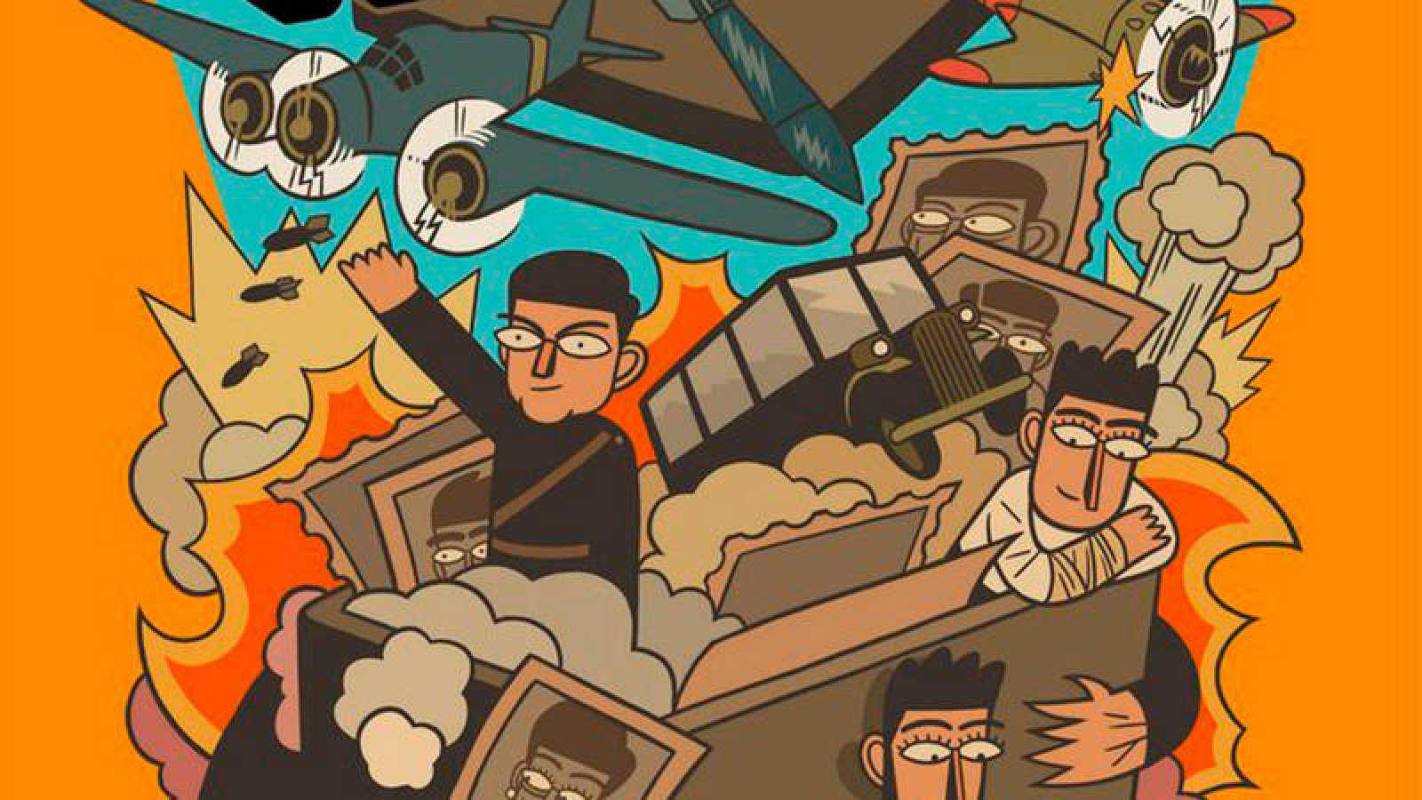 Fragmento de la portada de 'Una caja de galletas'