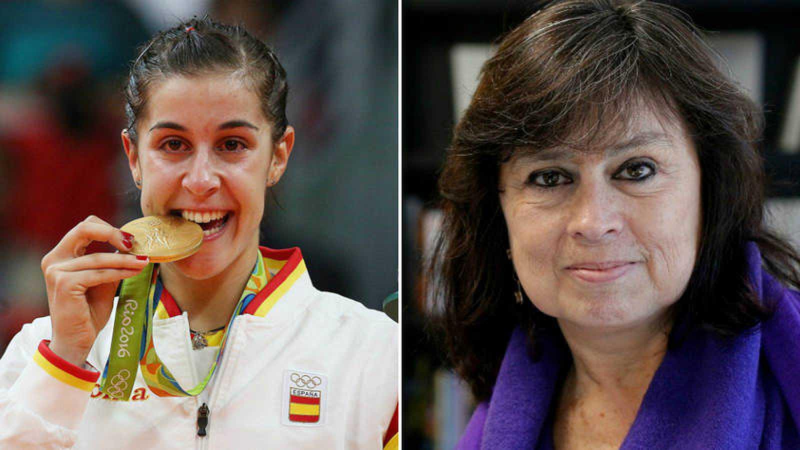 Carolina Marín y Laura Restrepo