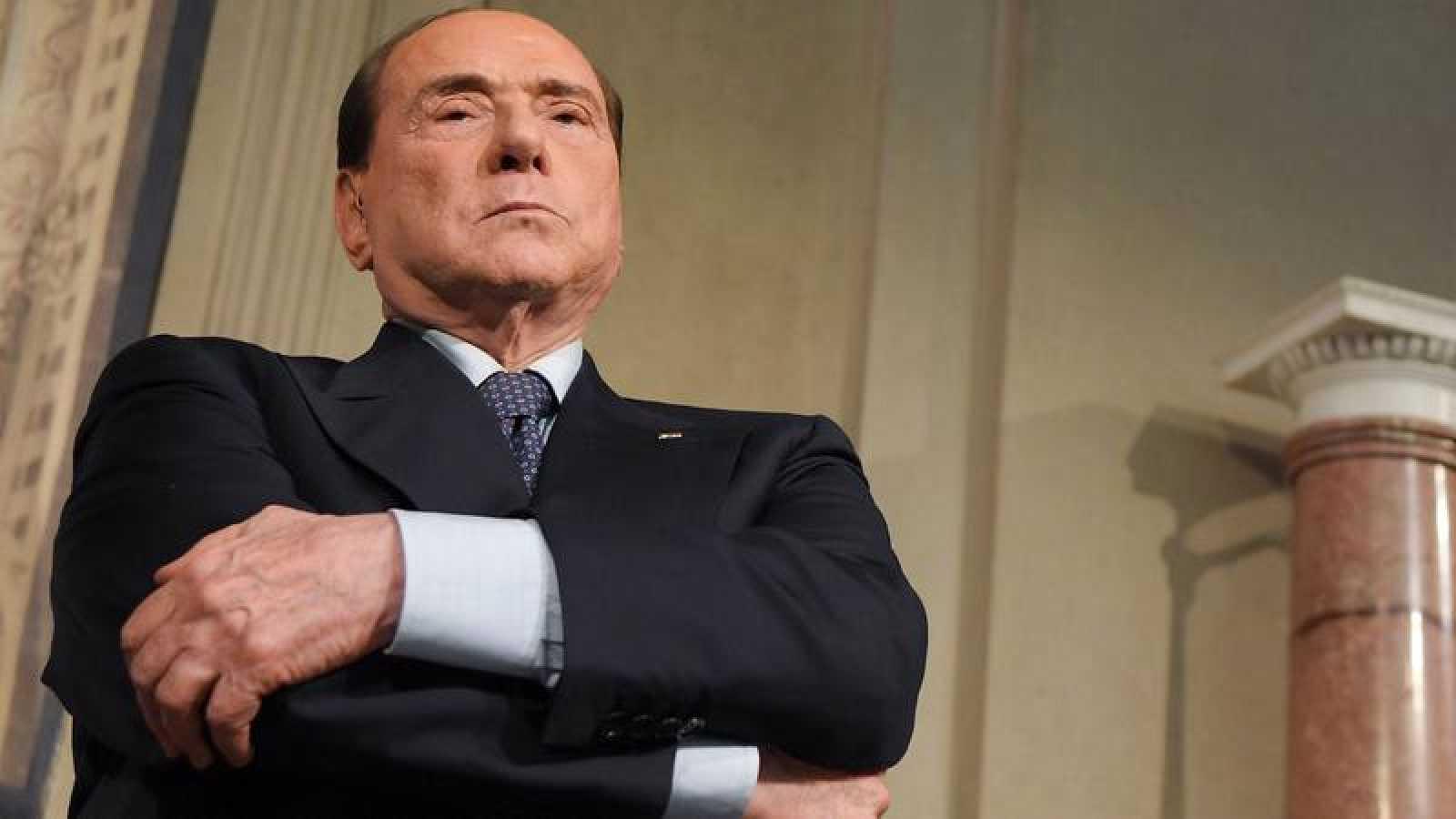 Silvio Berlusconi, durante una rueda de prensa con Matteo Salvini el pasado 7 de mayo en Roma