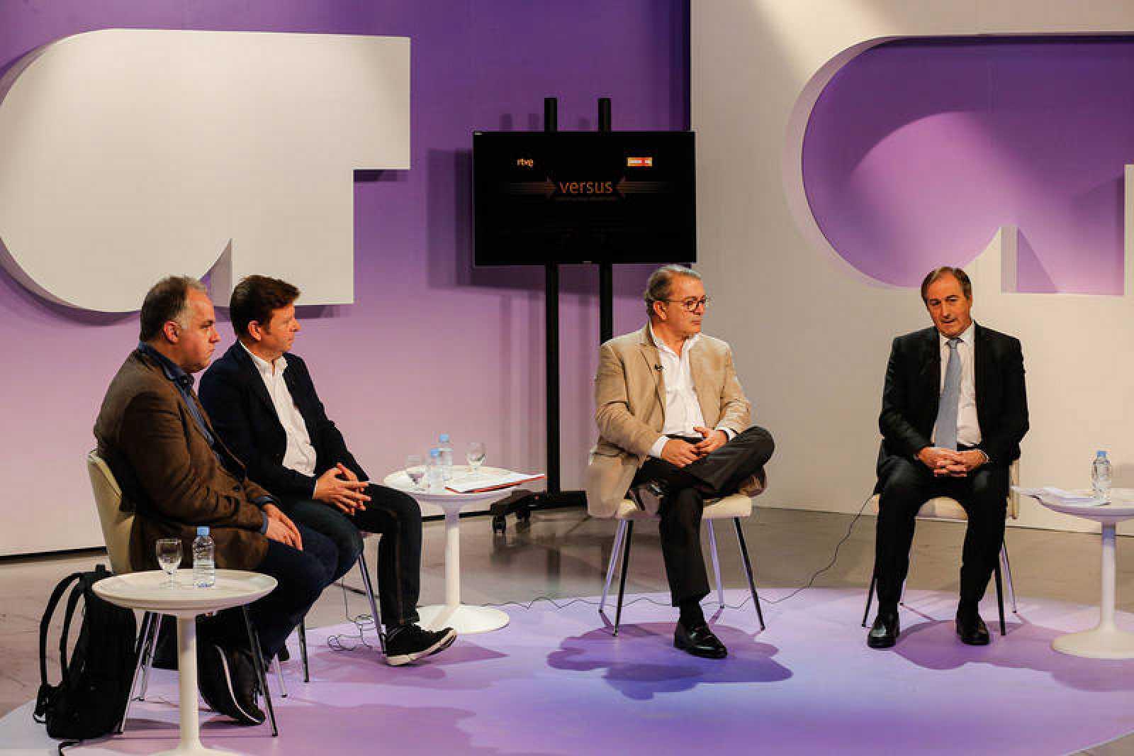 Lluís Alsina, Tinet Rubira, José Ramón Díez y Eladio Jareño han inaugurado el ciclo de debate profesional 'Versus' del Instituto RTVE