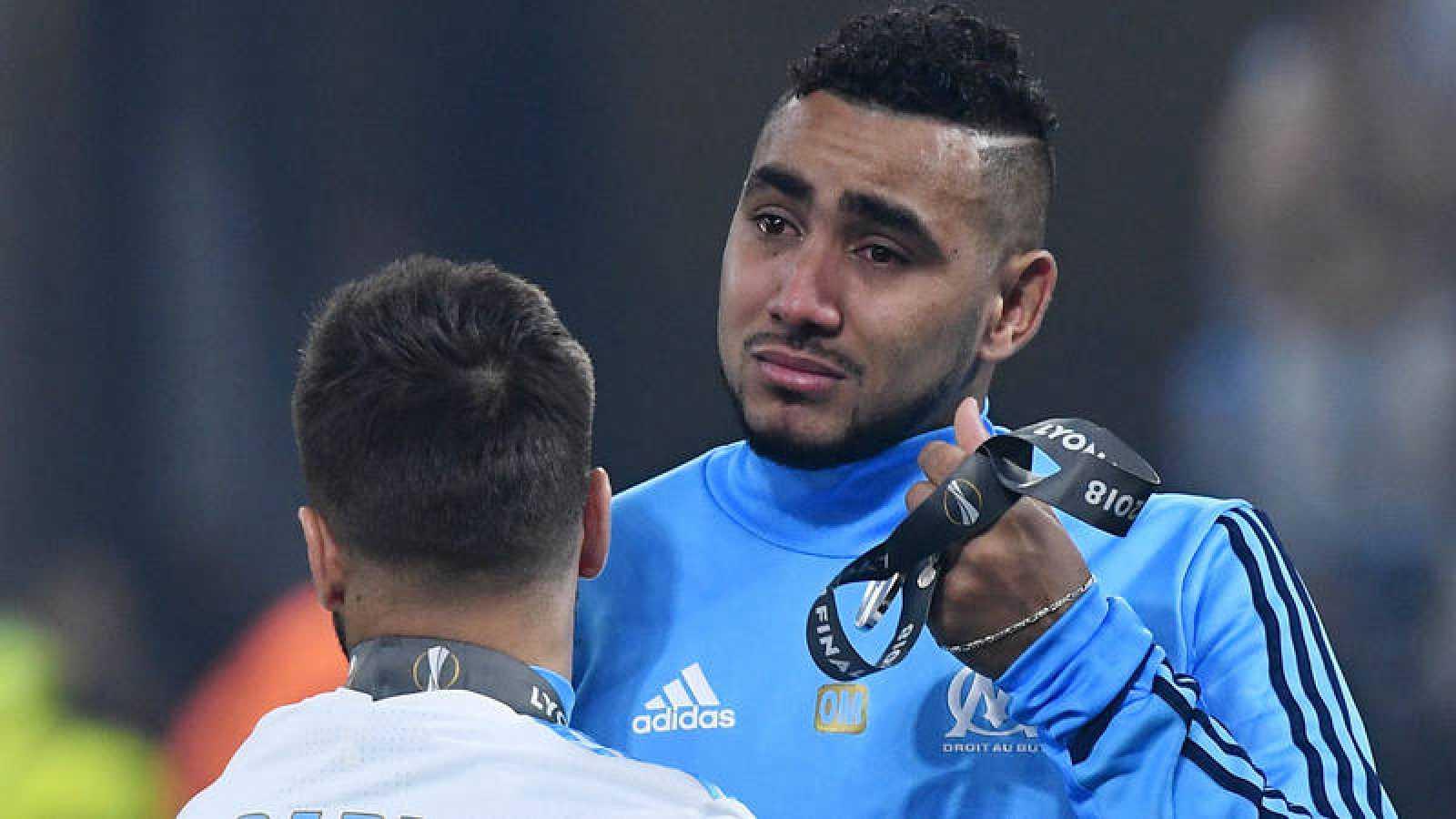 Dimitri Payet, con lágrimas en los ojos tras la final de la Europa League.