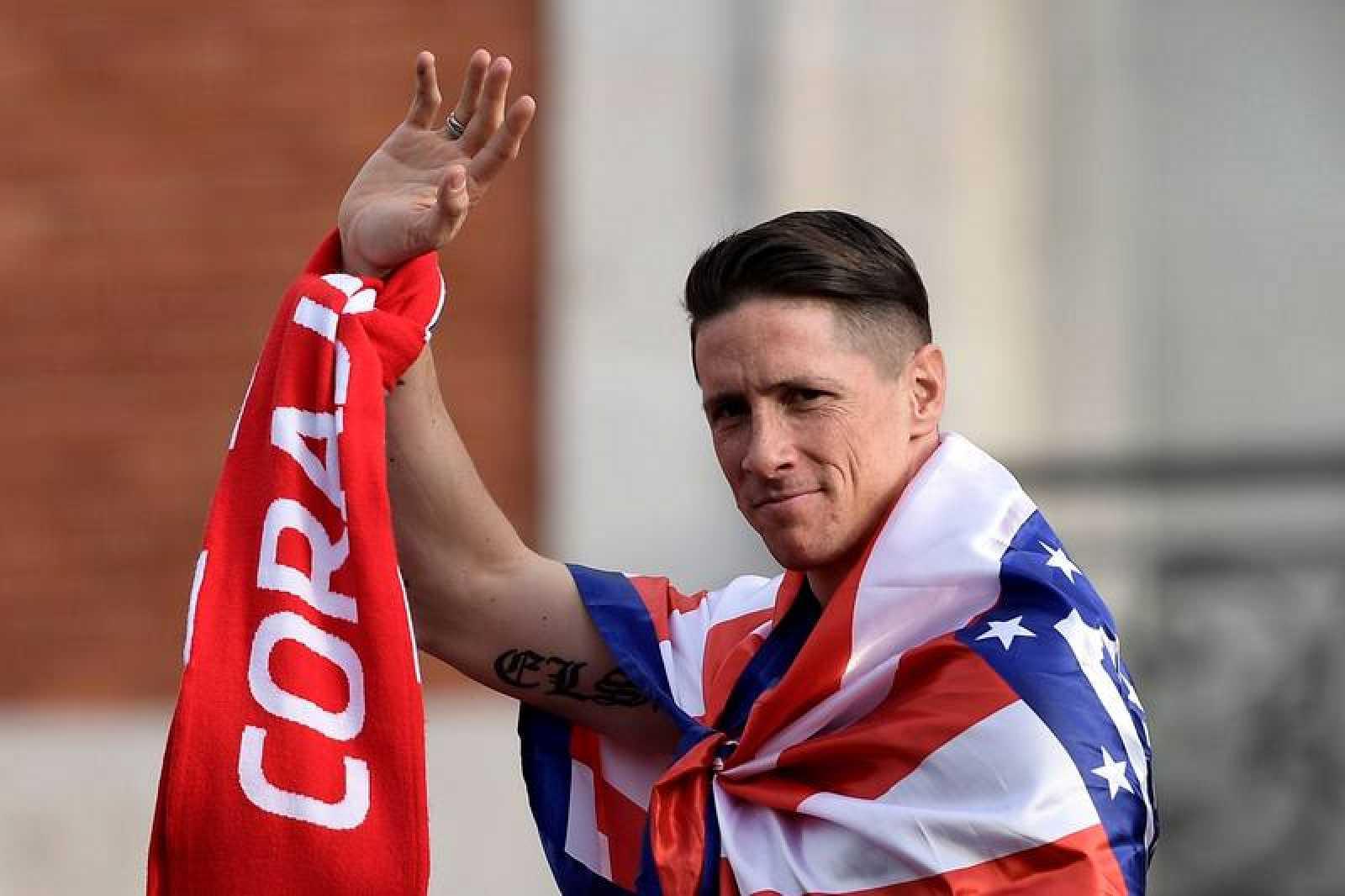 Fernando Torres se despide de la afición del Atlético