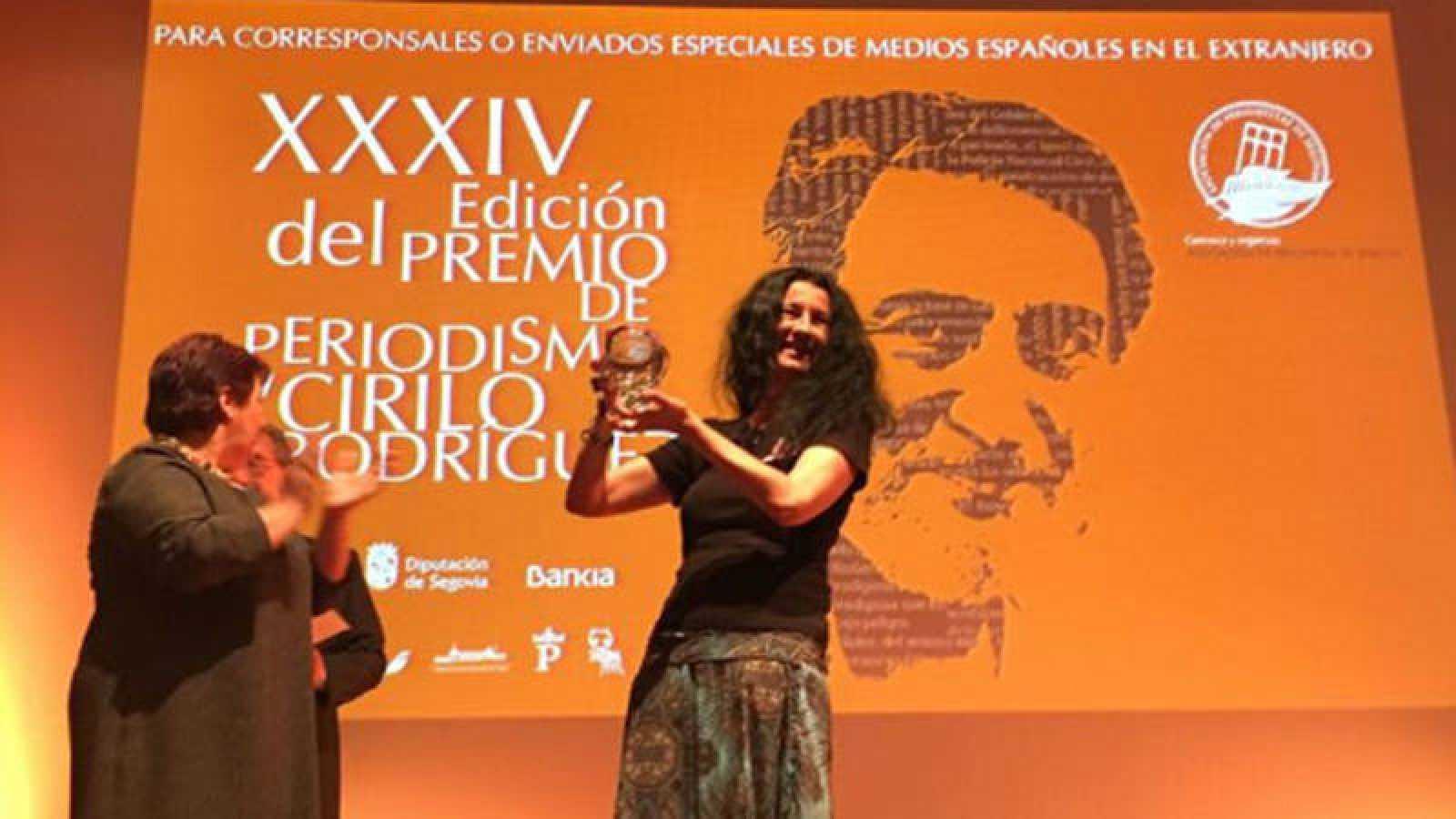 Cristina Sánchez, RNE, Premio Cirilo de periodismo