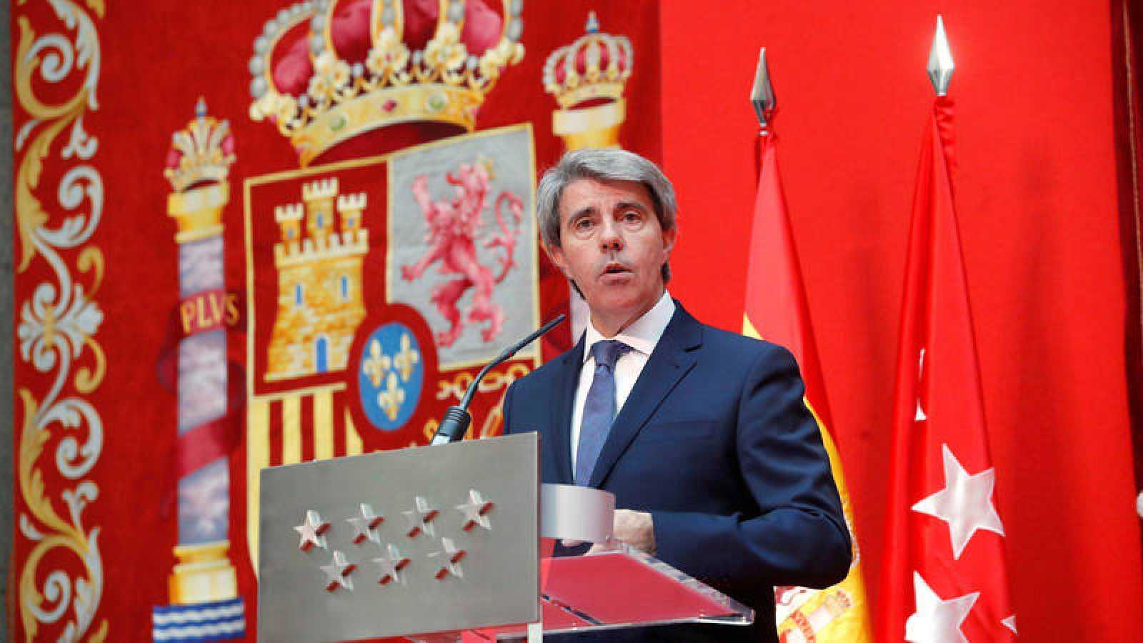 Ángel Garrido durante el acto de toma de Posesión como presidente de la Comunidad de Madrid