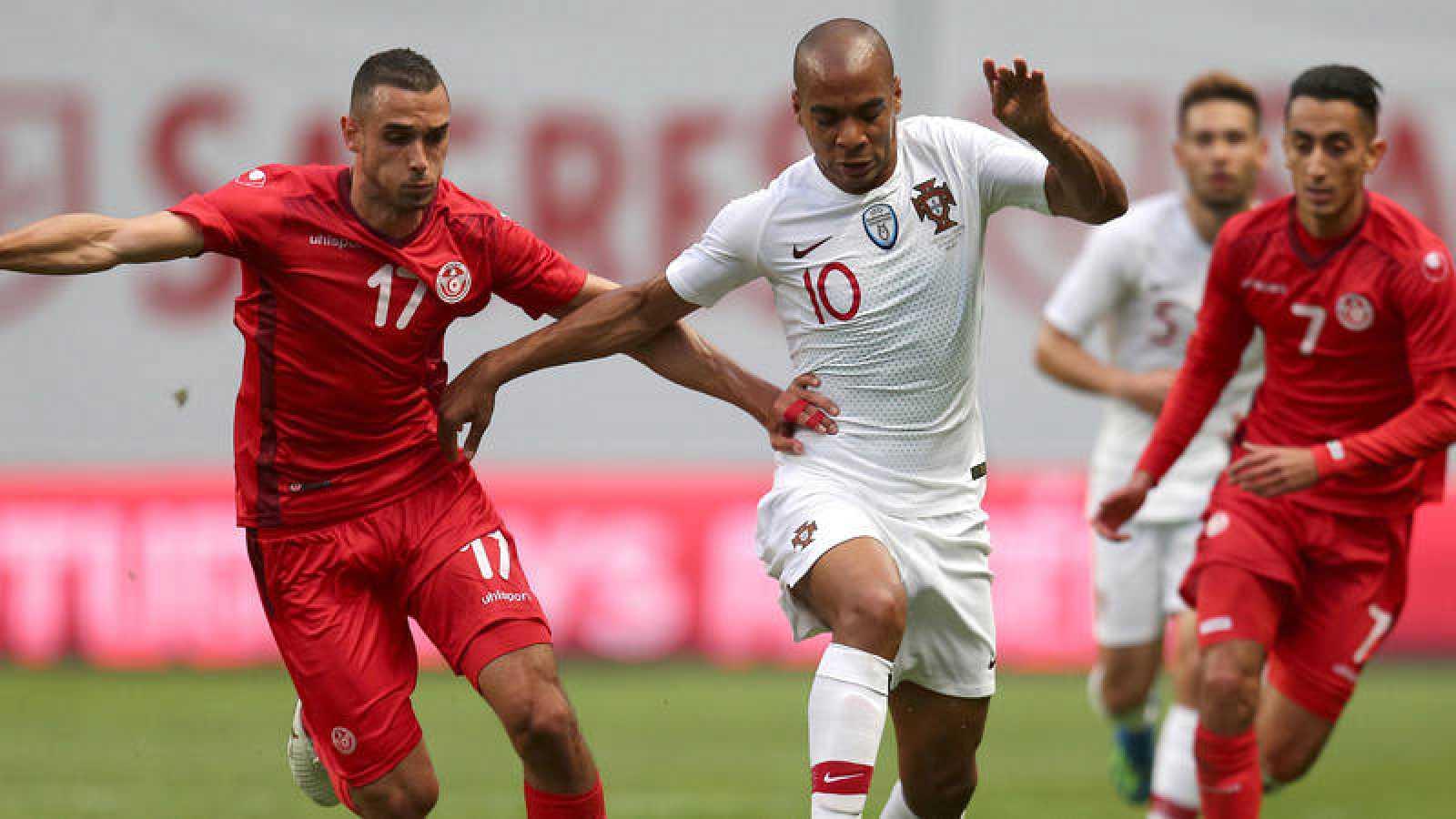 Imagen del Portugal - Túnez, amistoso preparatorio del Mundial.