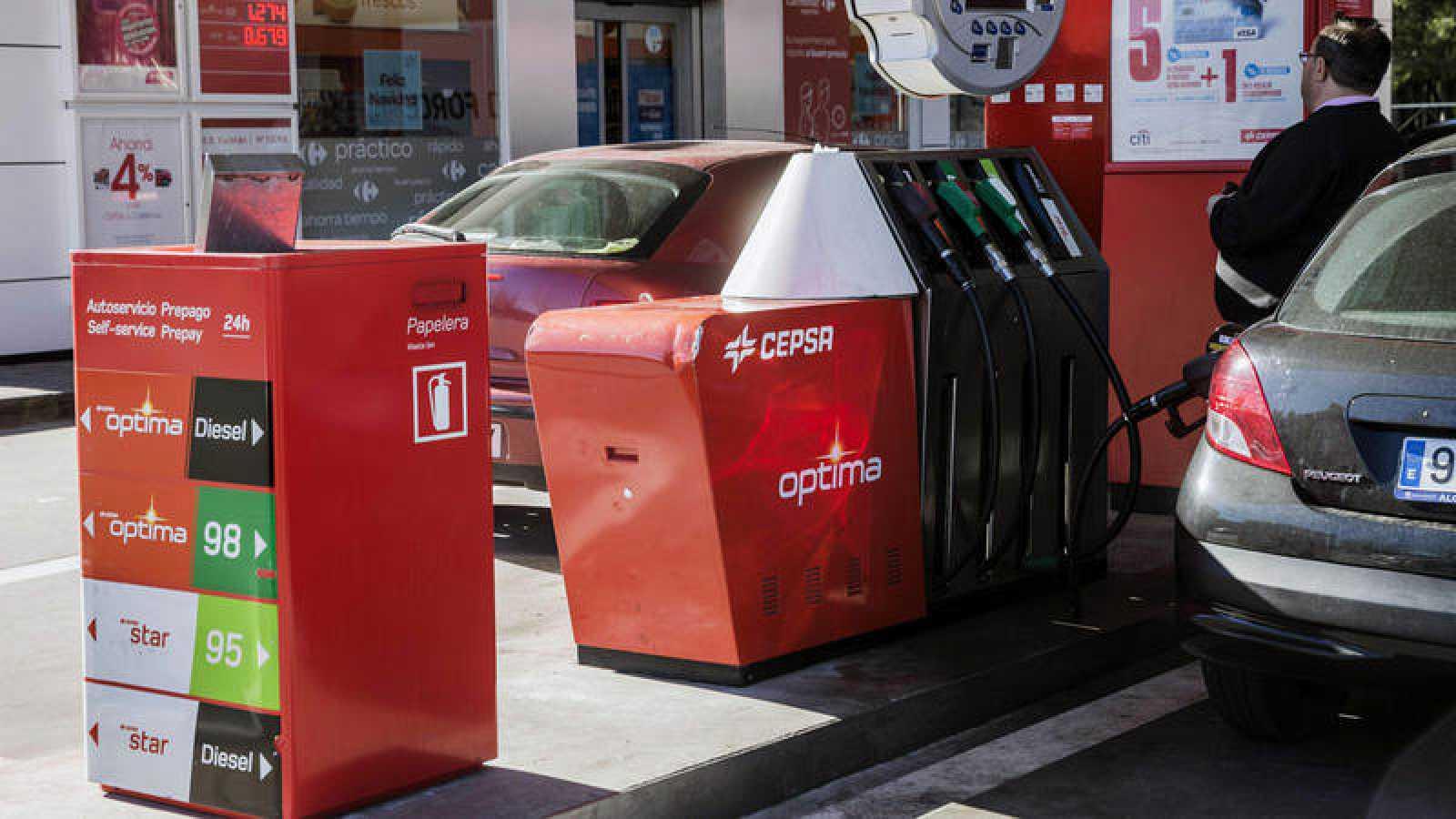 Una gasolinera en Madrid