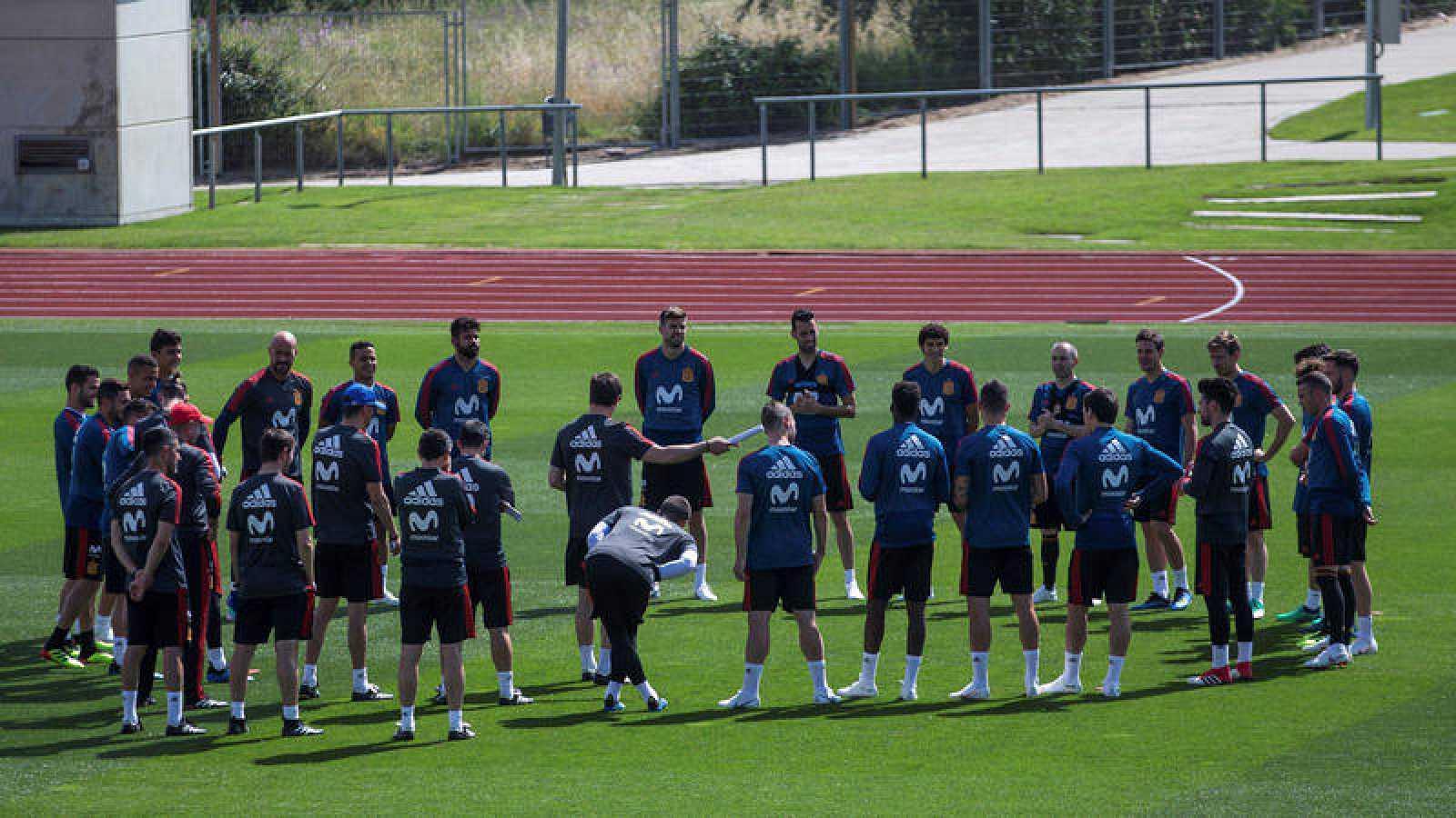 Entrenamiento selección española en Las Rozas (Madrid).
