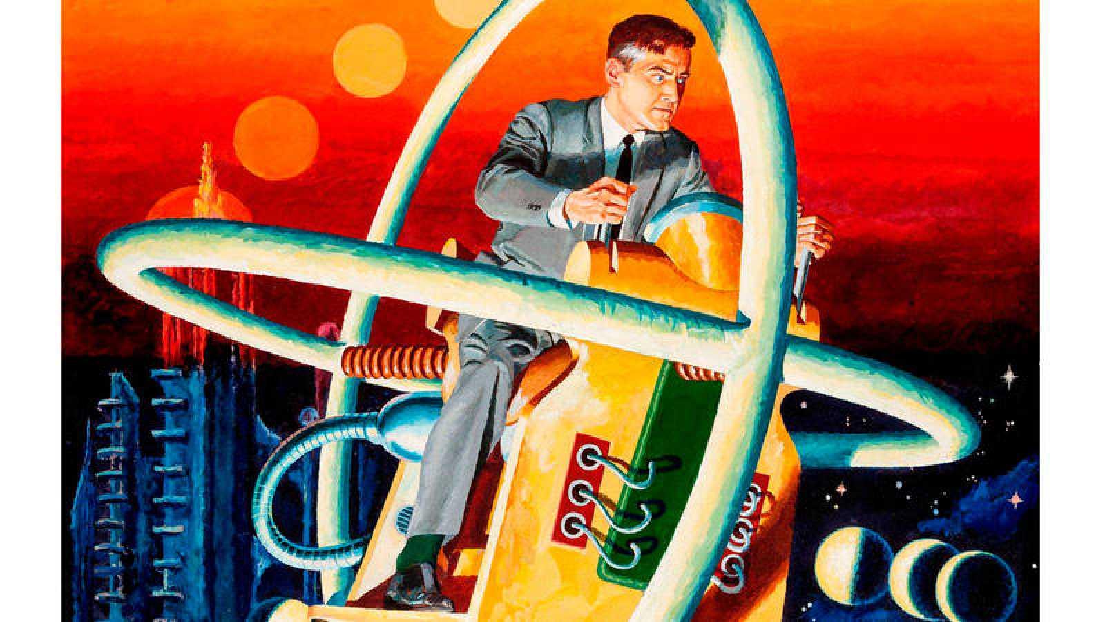 Fragmento de una ilustración de George Wilson para 'La máquina del tiempo'