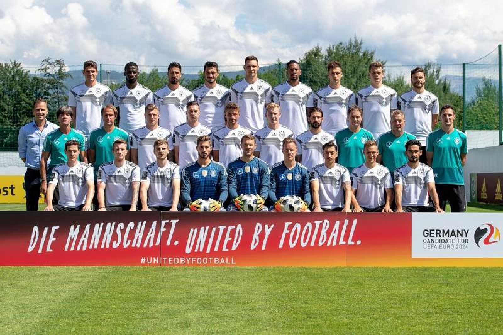 Foto de familia de la selección de fútbol de Alemania