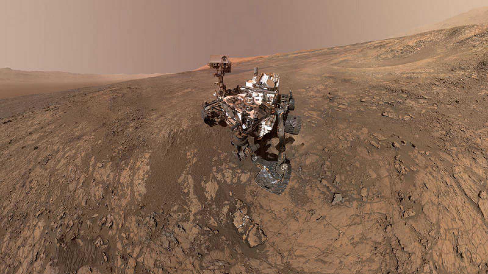 Fotografía cedida por la NASA del autorretrato del rover 'Curiosity'