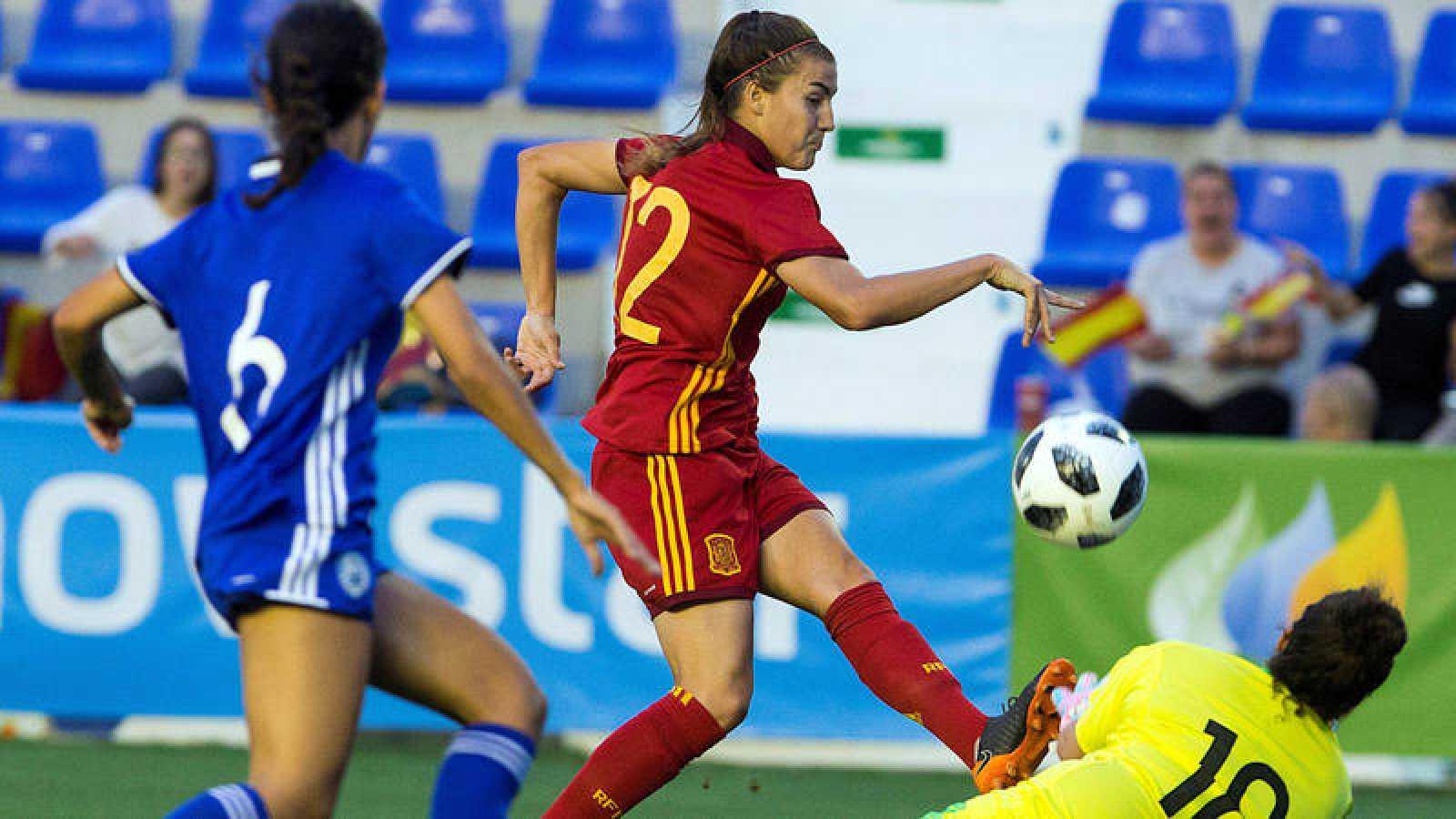 Patricia Guijarro, en un momento del España - Israel.