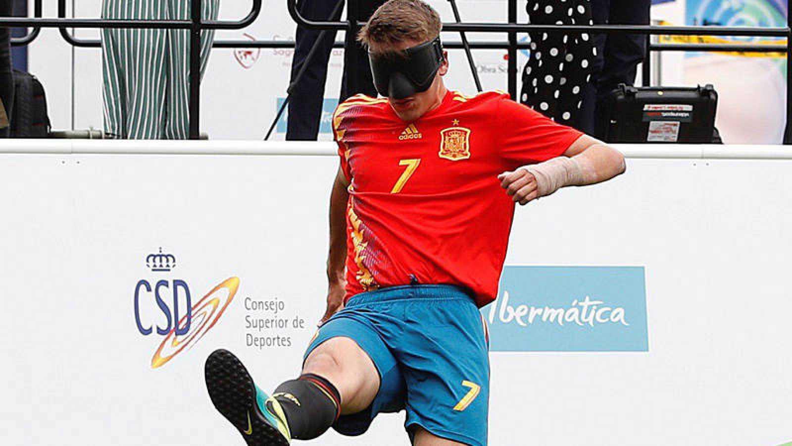 La selección española sigue contando por victorias sus partidos en el Mundial para ciegos.