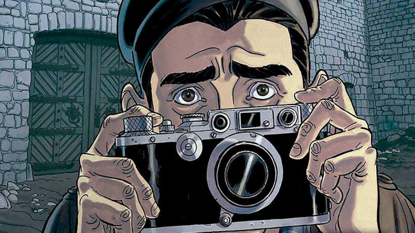 Fragmento de la portada de 'El fotógrafo de Mauthausen'