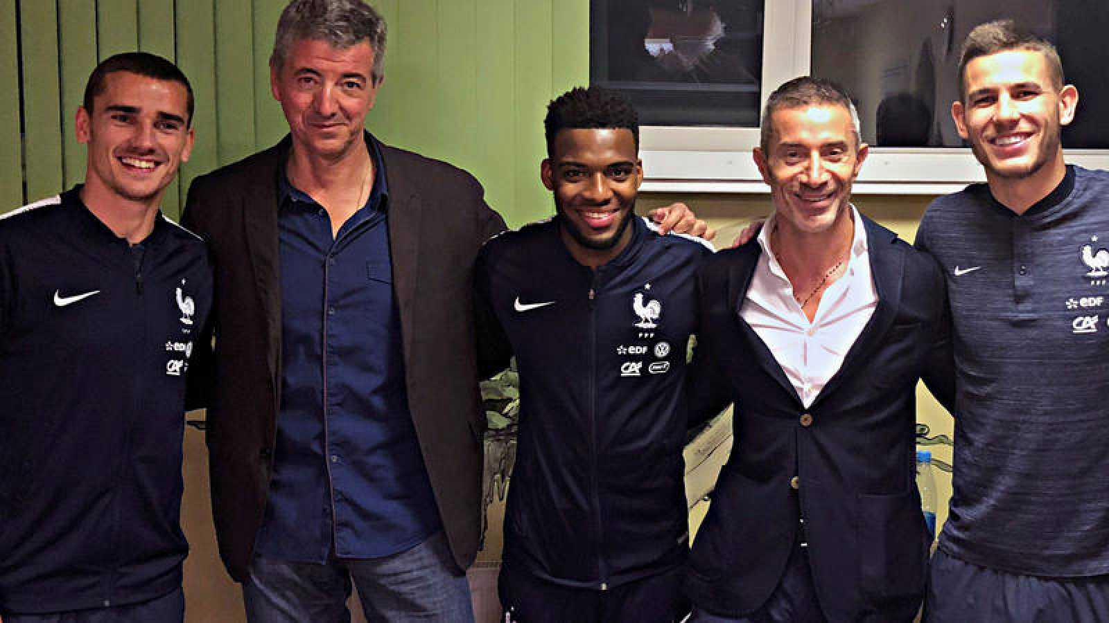 Antoine Griezmann, Lucas Hernández y Thomas Lemar renuevan con el Atlético.