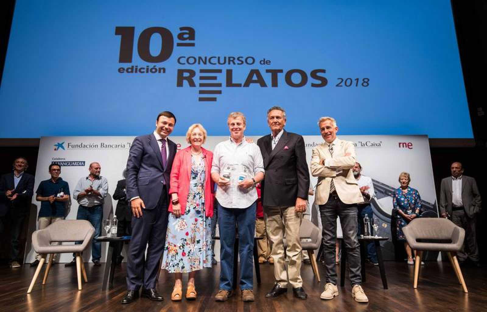 Jesús Arroyo, Soledad Puértolas, Hernán Morgenstern, Fernando Schwartz e Ignacio Elguero