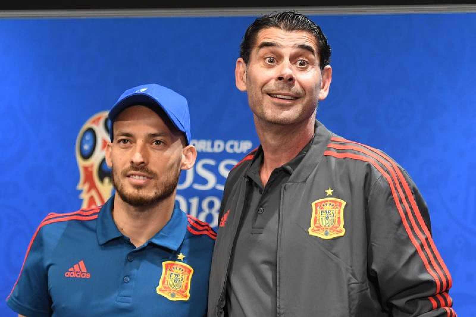 Hierro y Silva durante la rueda de prensa previa al coque
