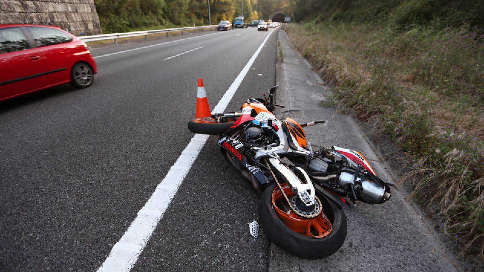 Imagen de archivo de un accidente de motocicleta ocurrido en 2017.
