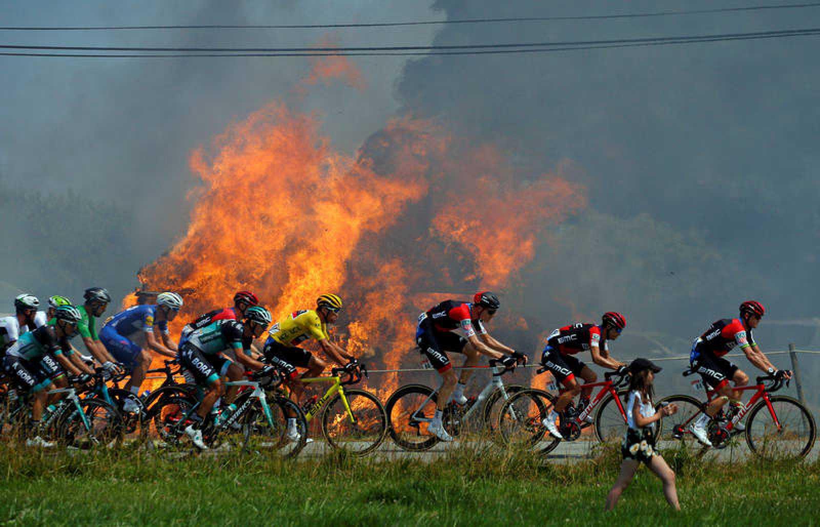 Imagen de la etapa 6 del Tour de Francia 2018.