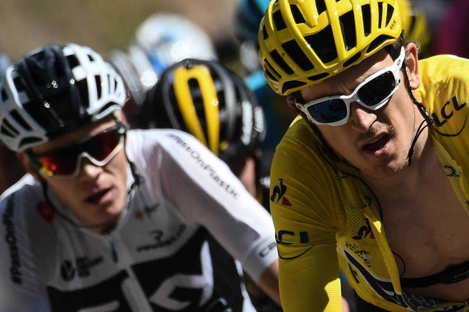 Froome y Geraint Thomas durante la etapa 12 del Tour de Francia.