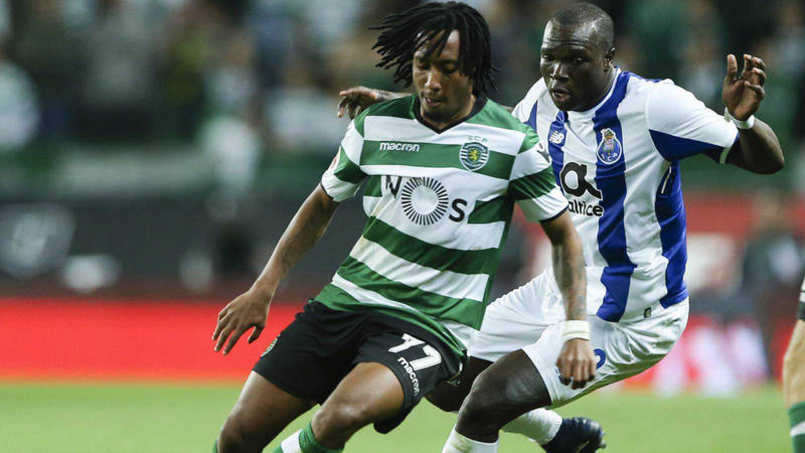 Gelson Martins, en un partido con el Sporting ante el Oporto.
