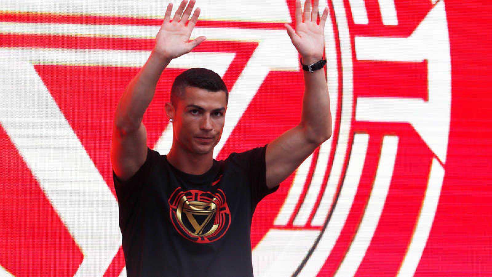 Cristiano Ronaldo, en su reciente visita a Pekín.